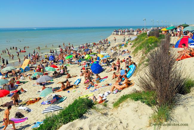 Plage de Quend à 8 km du camping des 4 plages dans le Nord pas de calais